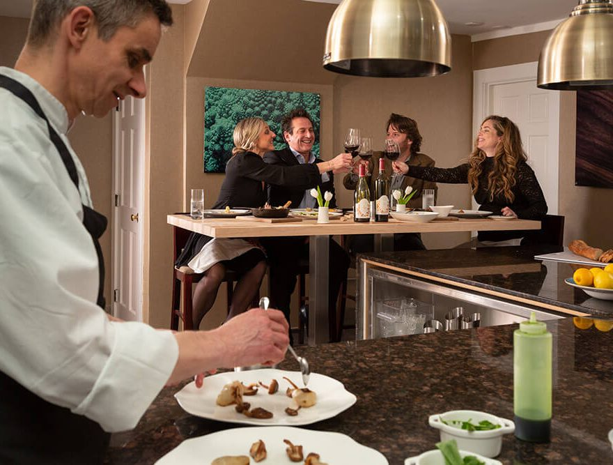 The Chef's Table experience at our Dining room at our fine dining restaurant in Chatham, MA