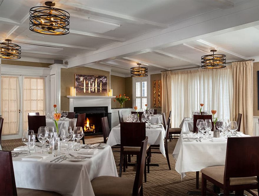 Dining room at our fine dining restaurant on Cape Cod