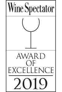 Award of Excellence 2019 Wine Spectator