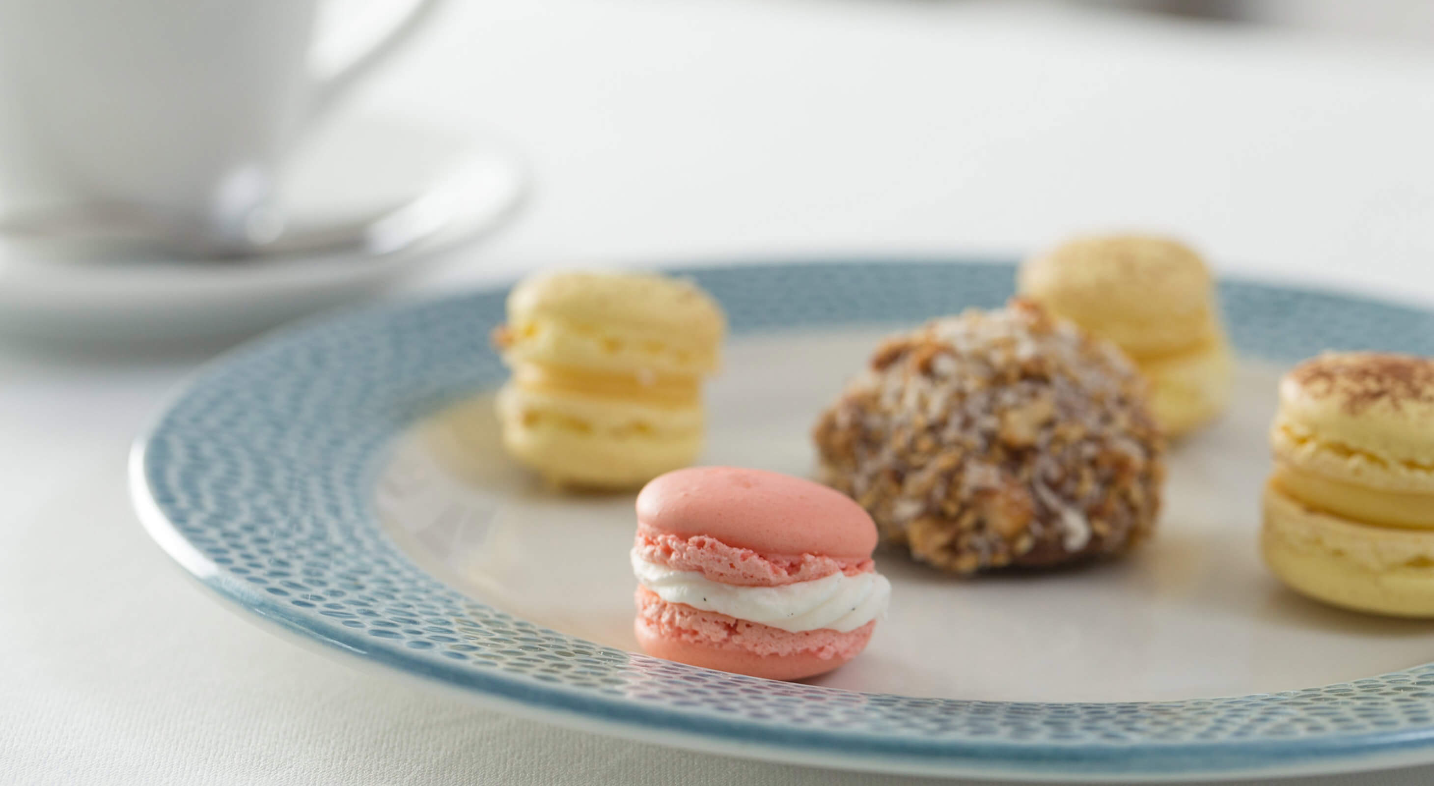 Colorful Macaron's on a plate